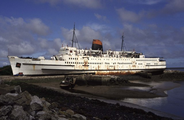 The abandoned 'Duke of Lancaster' Ship in Wales