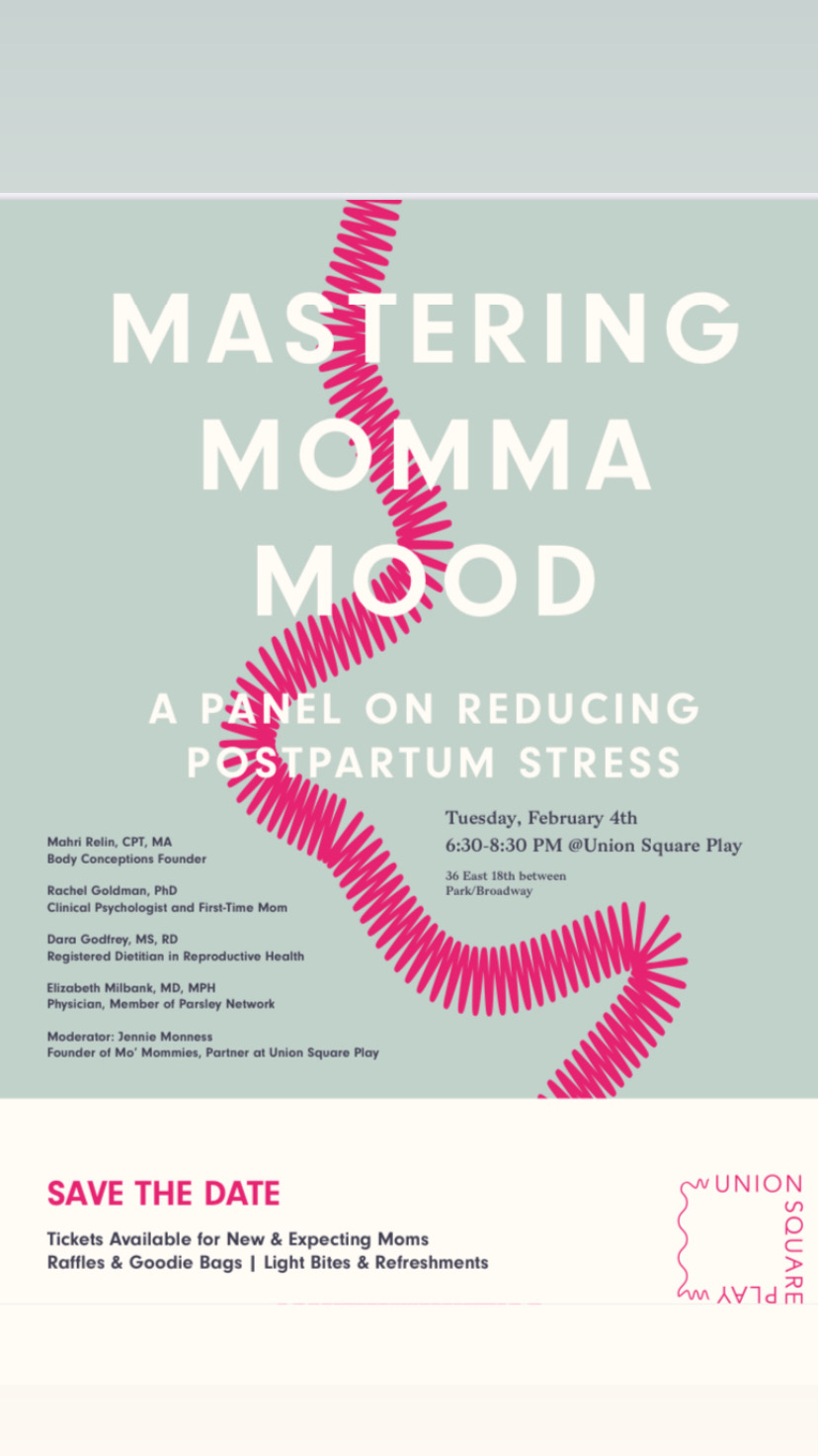 mastering momma mood event flyer