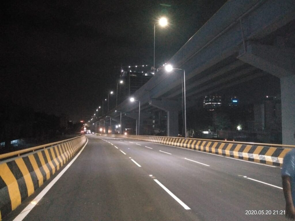 Three-lane Flyover at the Biodiversity Junction at Gachibowli