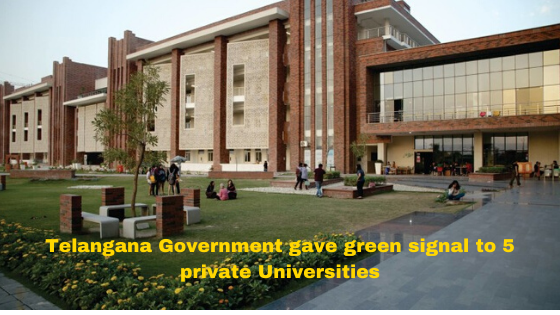 5 Private Universities get nod from Telanagana Government