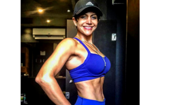 Mandira Bedi workout images