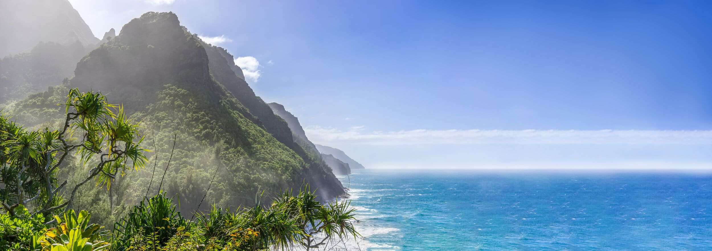 view of Ocean and mountains in Hawaii