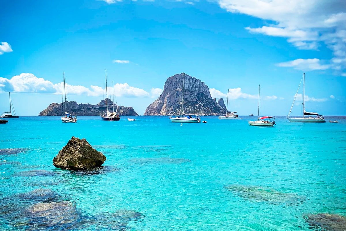 blue waters from Ibiza