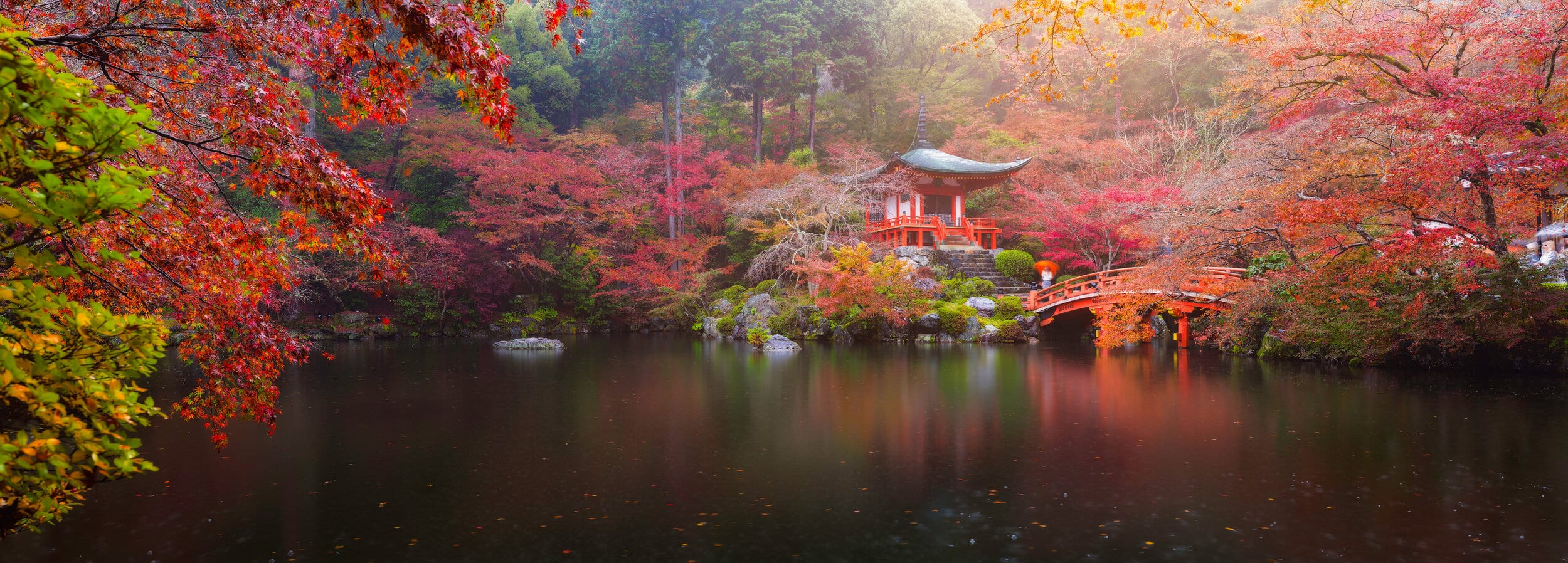 Japanese Pond in fall