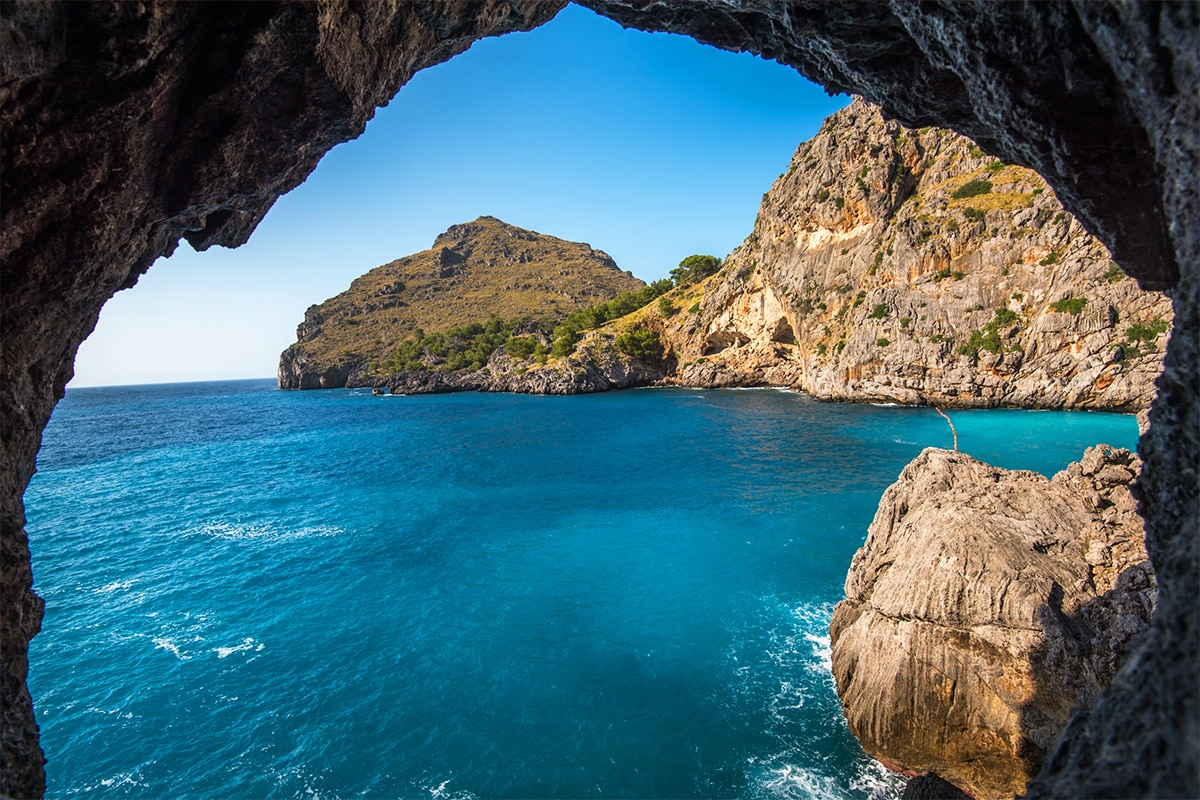 Ocean view from Mallorca cave