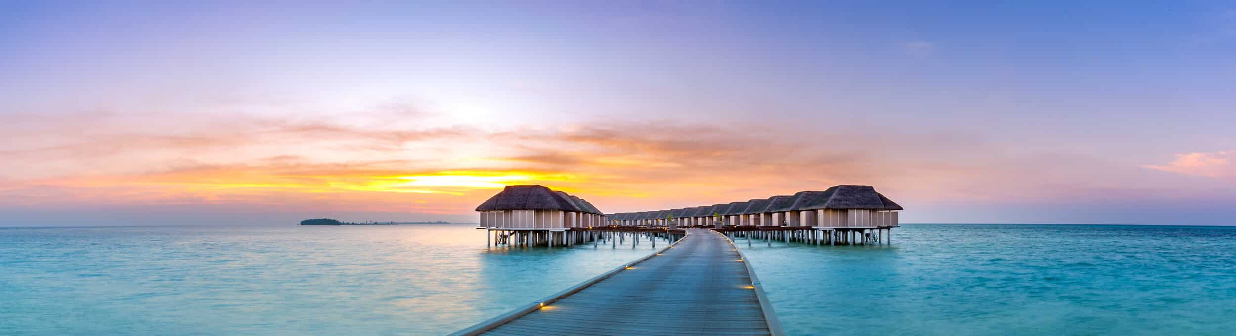 ocean huts in paradise