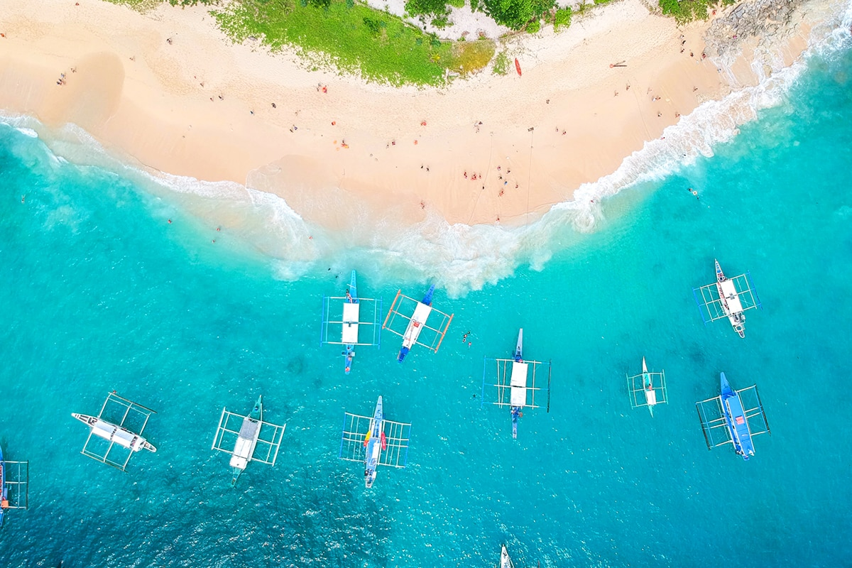 aerial view of Philippines beach