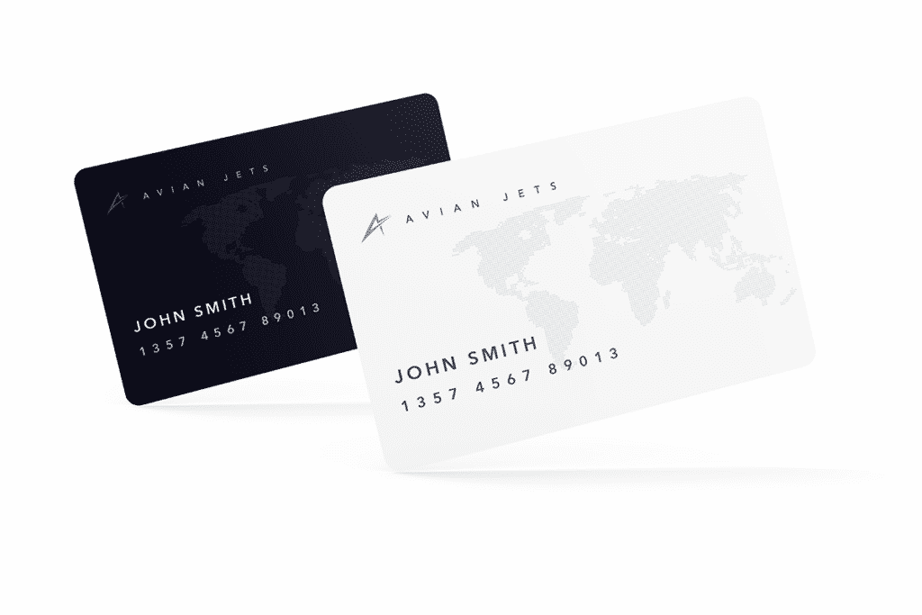 Avian Jets Jet Card white and black