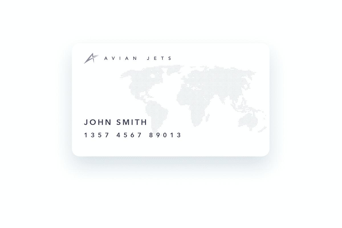 Avian Jets Jet Card White