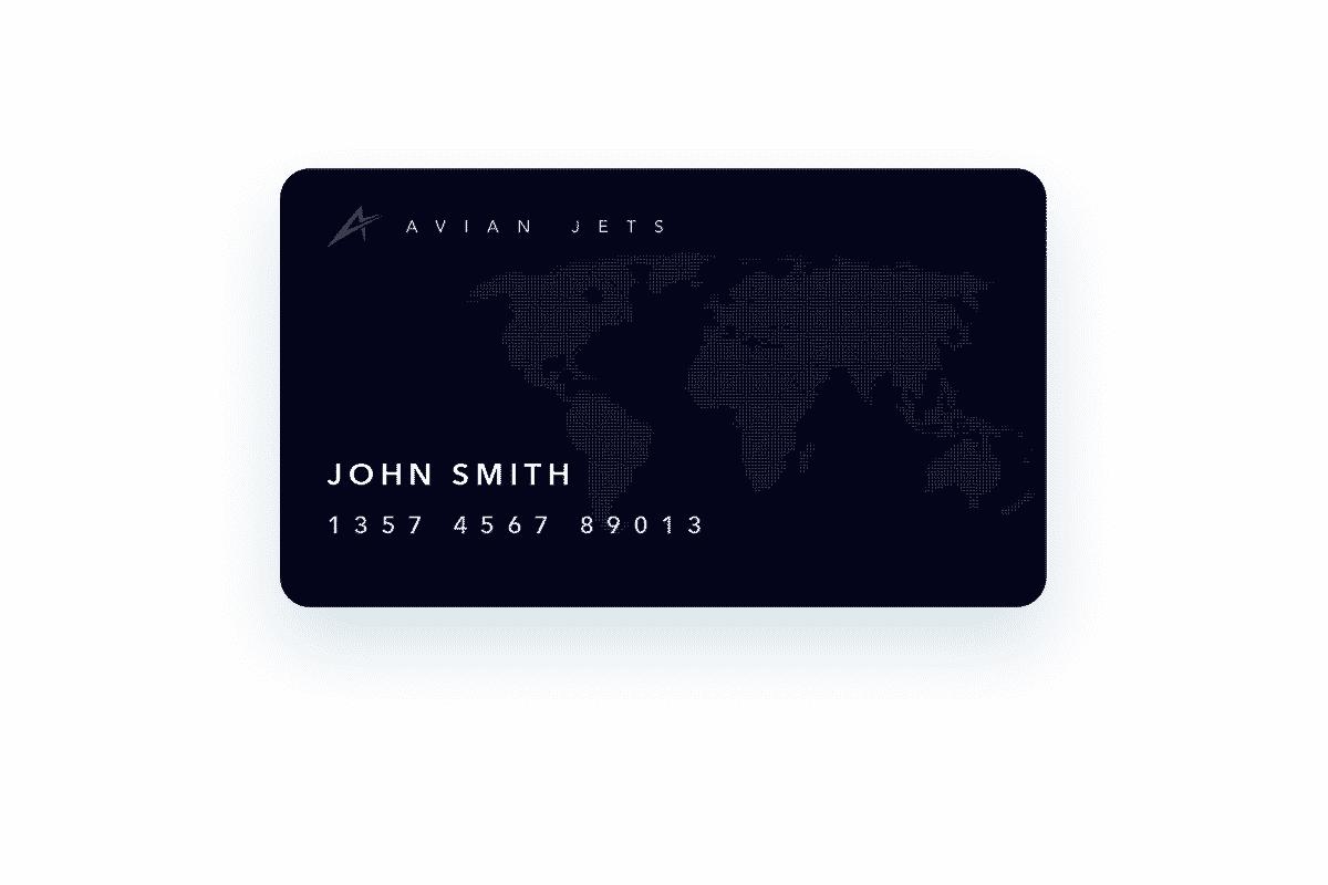 Avian Jets Jet card Black