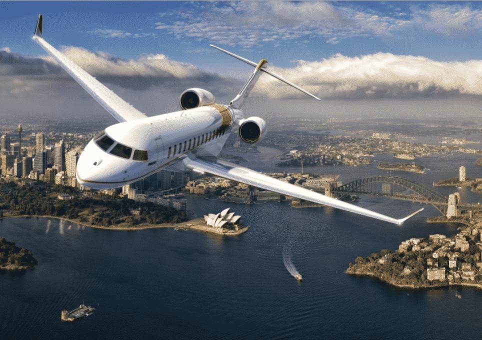 Bombardier Global 7500 over Sydney