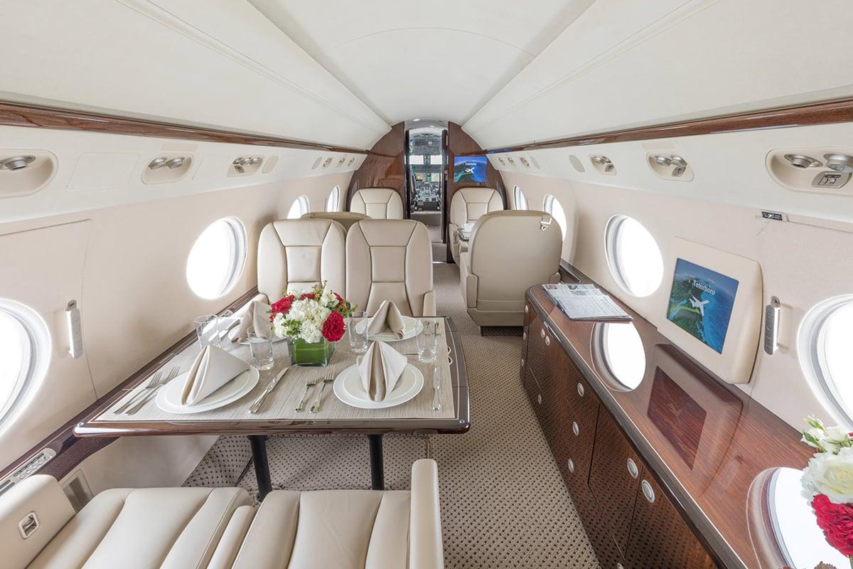 Gulfstream G450 interior