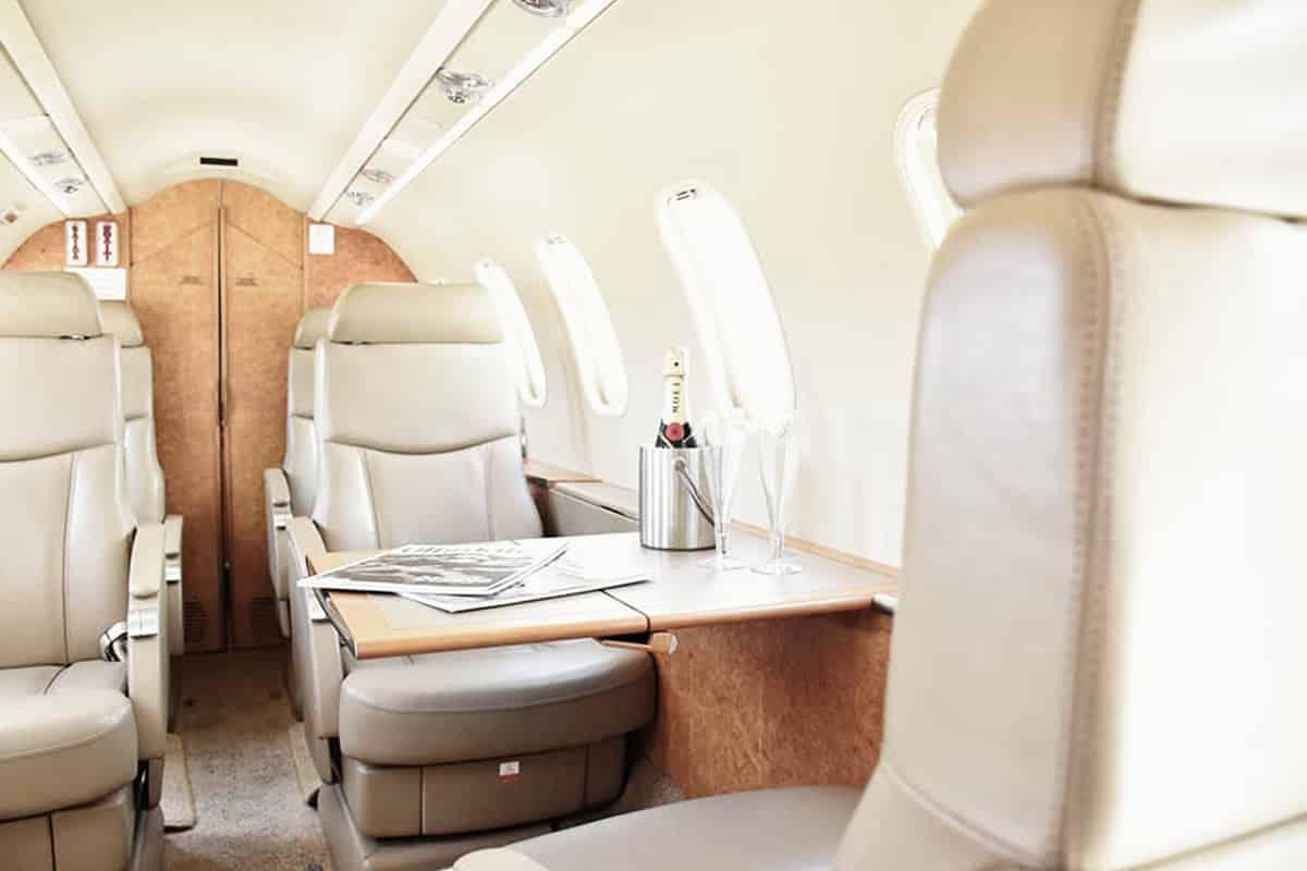 Lear Jet 45XR Interior