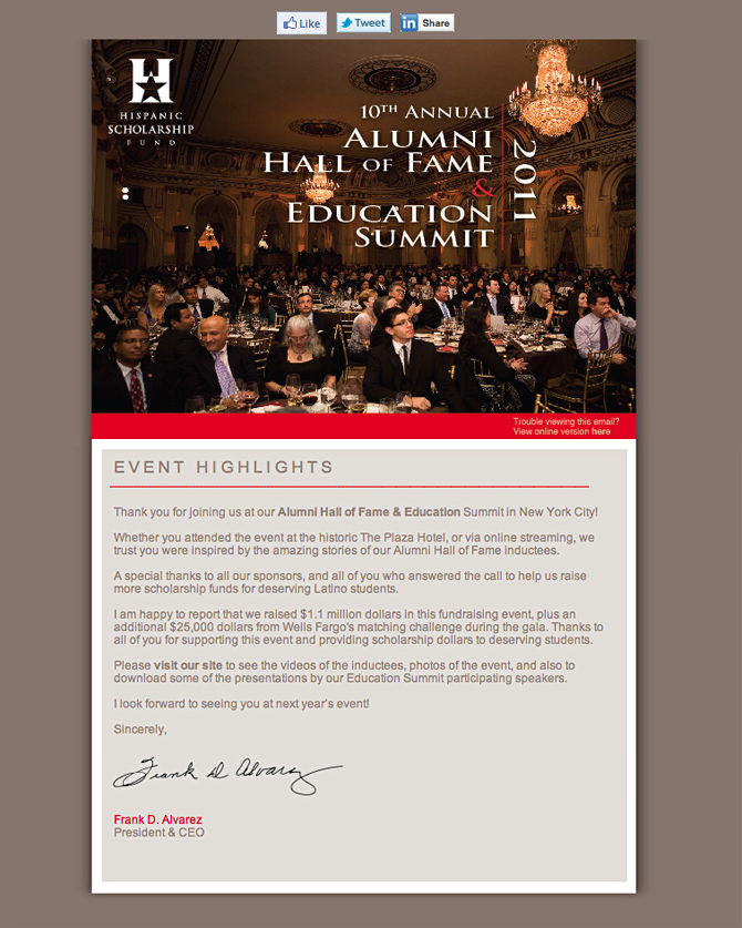 HSF – Alumni Hall of Fame & Education Summit 2011