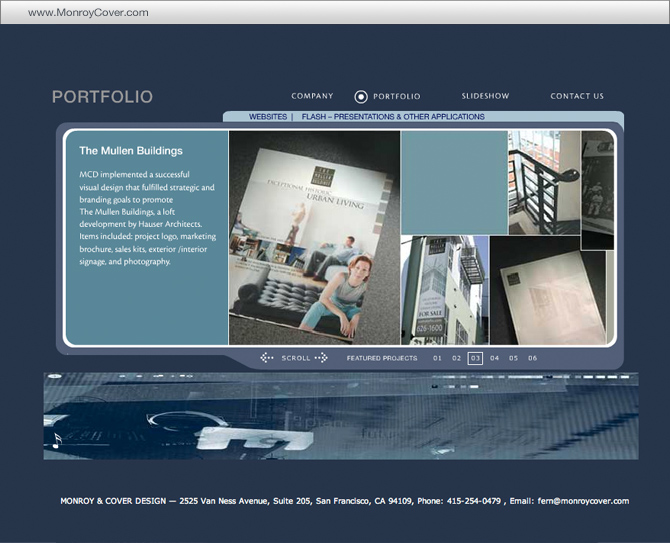 Monroy & Cover – Flash Website