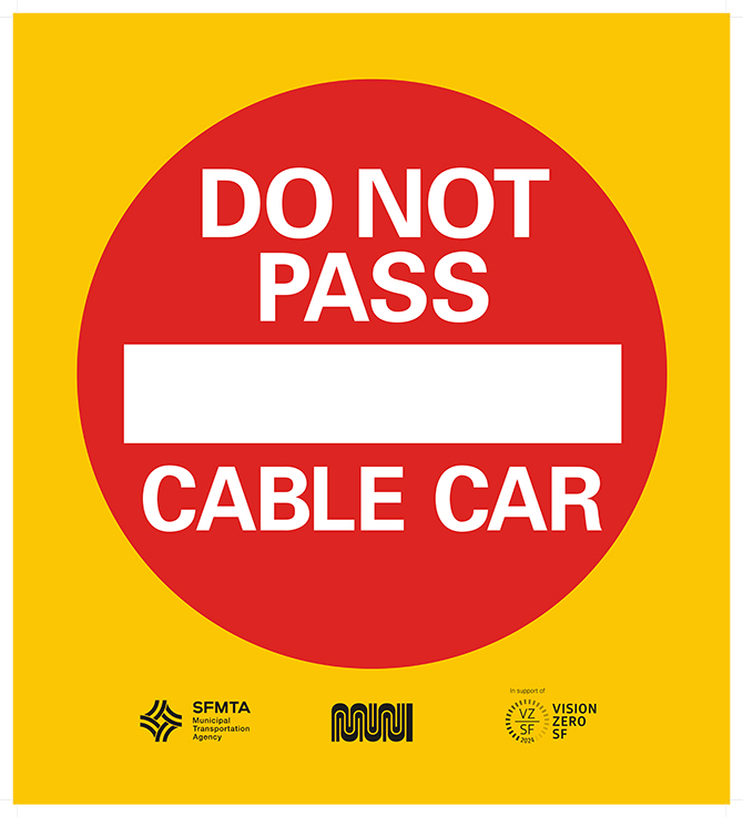 Cable Car Safety Signage