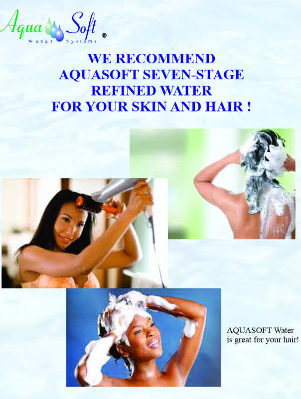 Women Using Refined Water for Their Skin and Hair