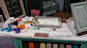 """Temporary palette to catch the drips, Now a """"famous work of art?"""""""