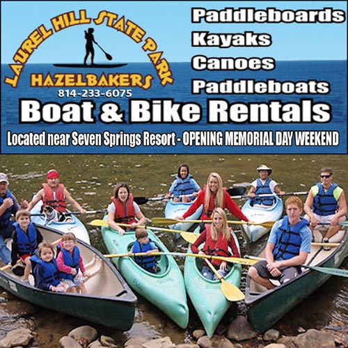 Hazelbakers's Bike & Boat Rentals - Laurel Hill State Park, Yough River