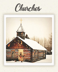 Quaint little rustic church for weddings in Laurel Highlands