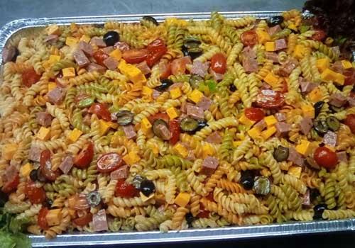 Colorful pasta salad