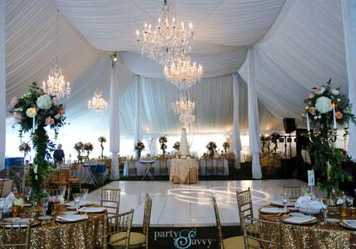 Open tented wedding venue