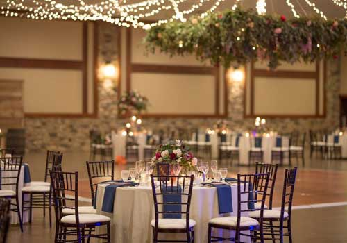 Flowers for a rustic wedding reception