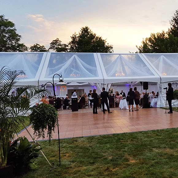 Wedding tents and dance floor rentals