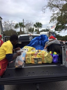 Truckload of donations