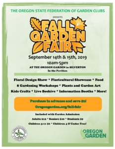 2019 Fall Garden Fair @ Oregon Garden Pavilion