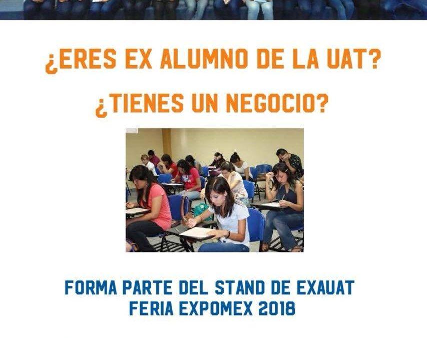 ¡Ayúdanos a ayudar en el stand de EXAUAT feria EXPOMEX 2018!