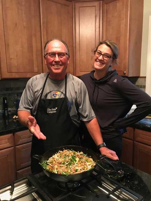 World Affairs STL presents a Pad Thai cooking demonstration - Greg Warner & his daughter, Sarah Craig
