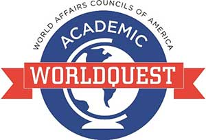 Academic World Quest logo - AWQ is a program of World Affairs Councils of America