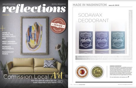SodaWax in March 2018 edition of Reflections Magazine