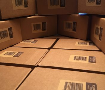 All boxed up! ?? Our very first shipment to QFC! ?