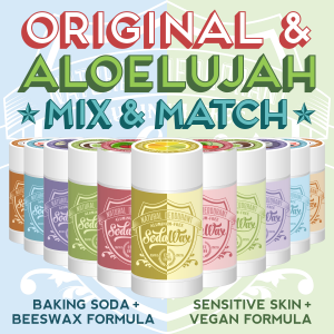 Mix & Match Original SodaWax™ & Aloelujah™ Natural Deodorants