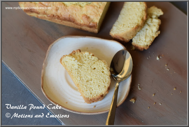 Slices Vanilla Pound Cake