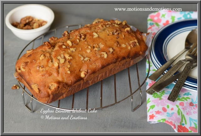 Eggless loaf loaded with walnuts