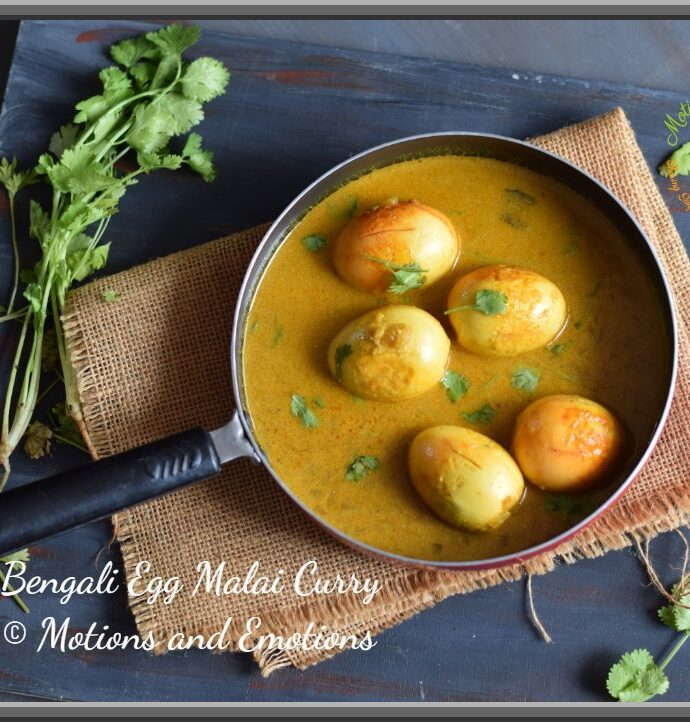 How to make Bengali Egg Malai Curry | Bengali Egg Curry in Coconut Milk