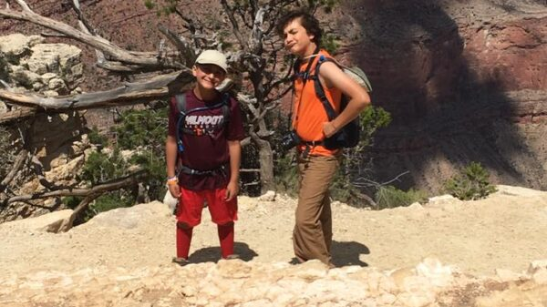 Marcus and Bryce On South Rim of the Grand Canyon