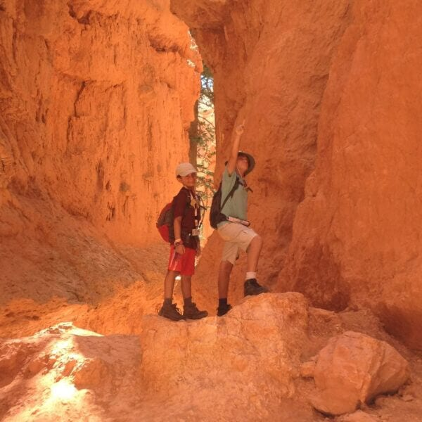 Below the Hoodoos of Bryce Canyon
