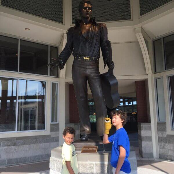 Elvis Presley Statute At The Memphis Welcome Center