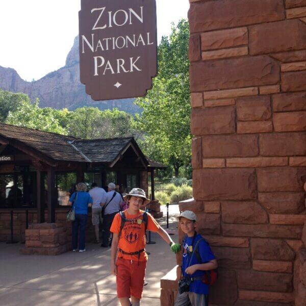 Zion N.P. Entrance Sign