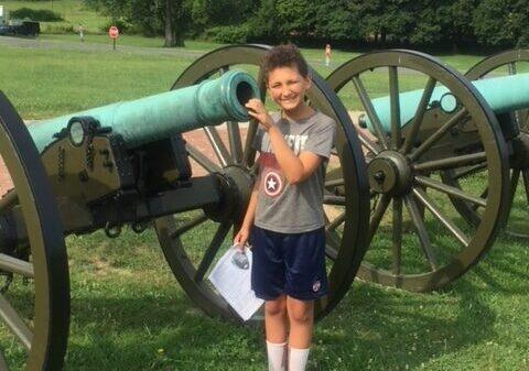 Bryce at Antietam National Battlefield
