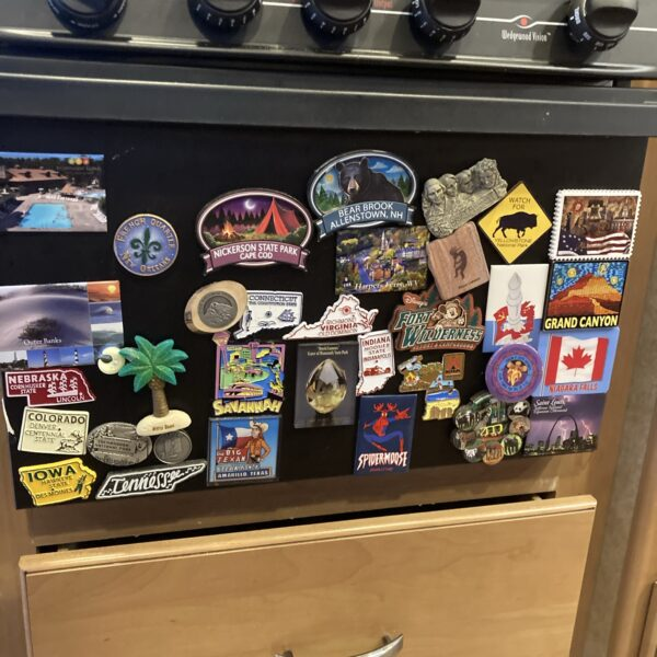 Magnets From Some of our Stops
