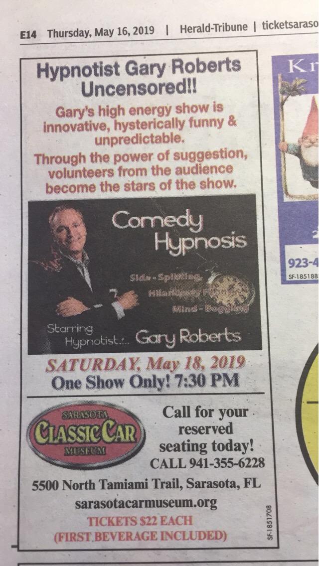 Comedian Magician Gary Roberts