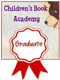 Illustration of a brown bear peeking down from top right corner at the Graduate badge.