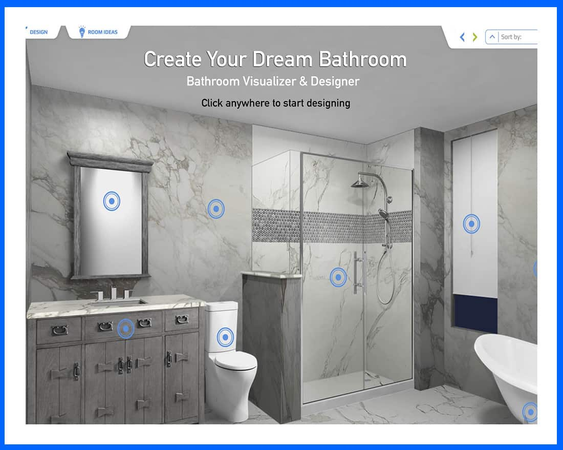 Free bathroom visualizer and designer