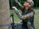 Tree stands are an excellent way to get the drop on big game, but some basic safety precautions are required to keep your hunt safe. (Courtesy National Tree Stand Assoc.)