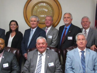 County commissioners and senior staff (file photo)